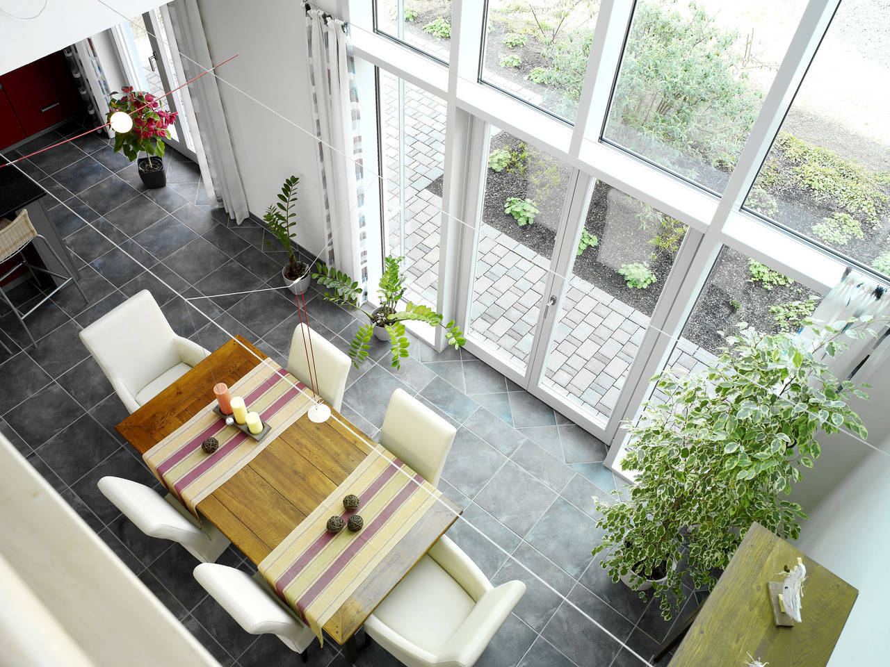 Musterhaus Evita von Gussek Haus - Wohnzimmer