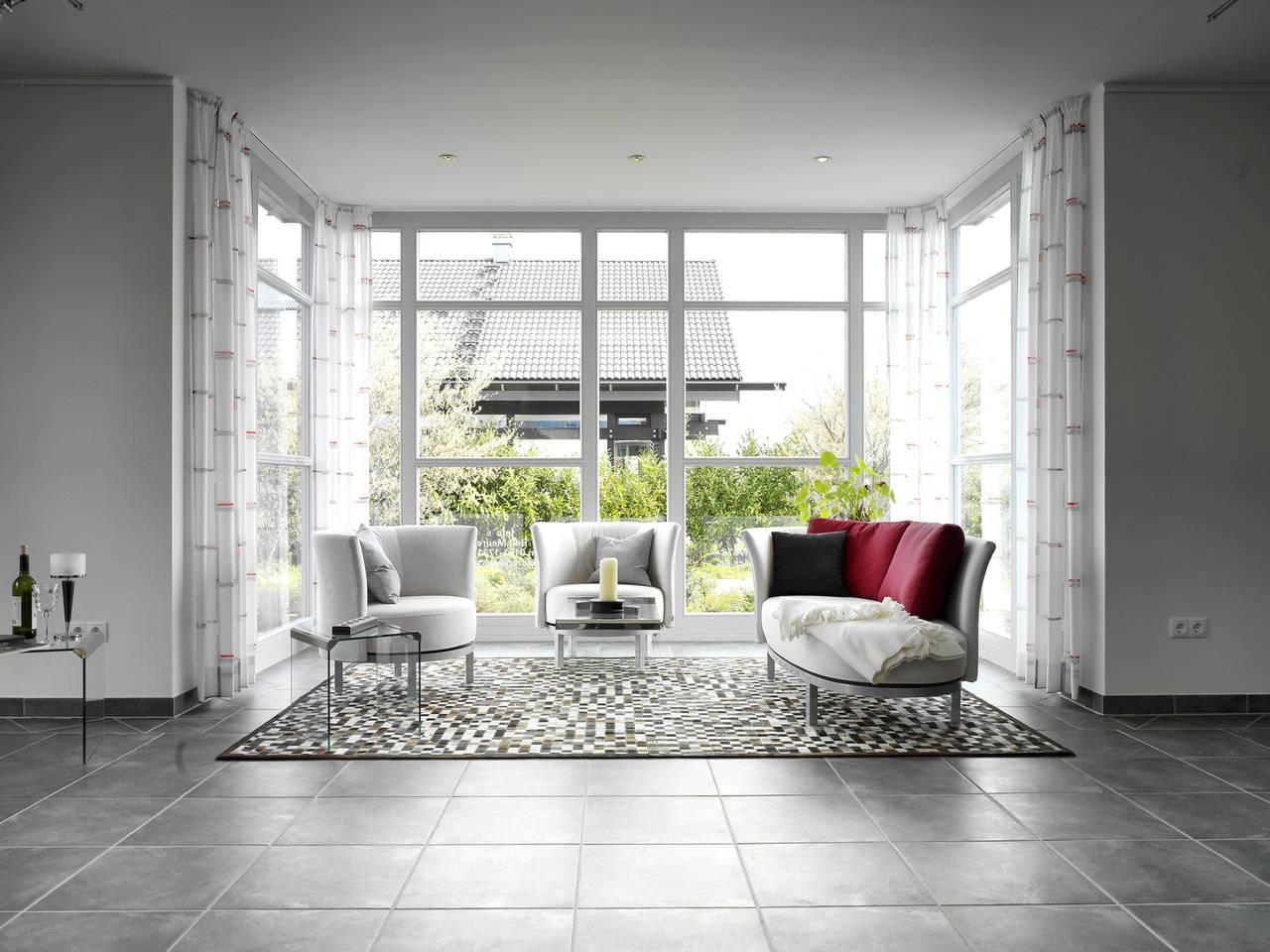 Musterhaus Evita von Gussek Haus - Wohnzimmer Ansicht 1