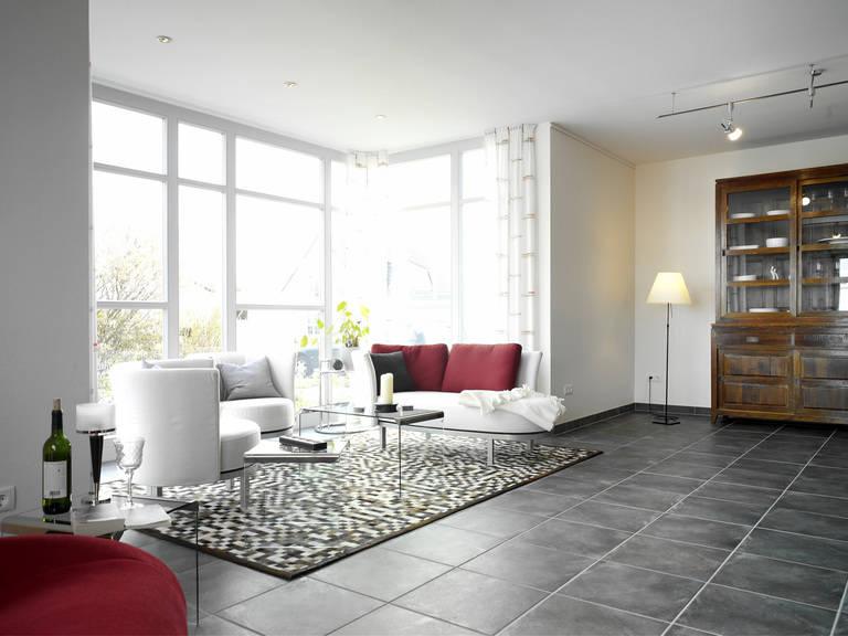 Musterhaus Evita von Gussek Haus - Wohnzimmer Ansicht 2