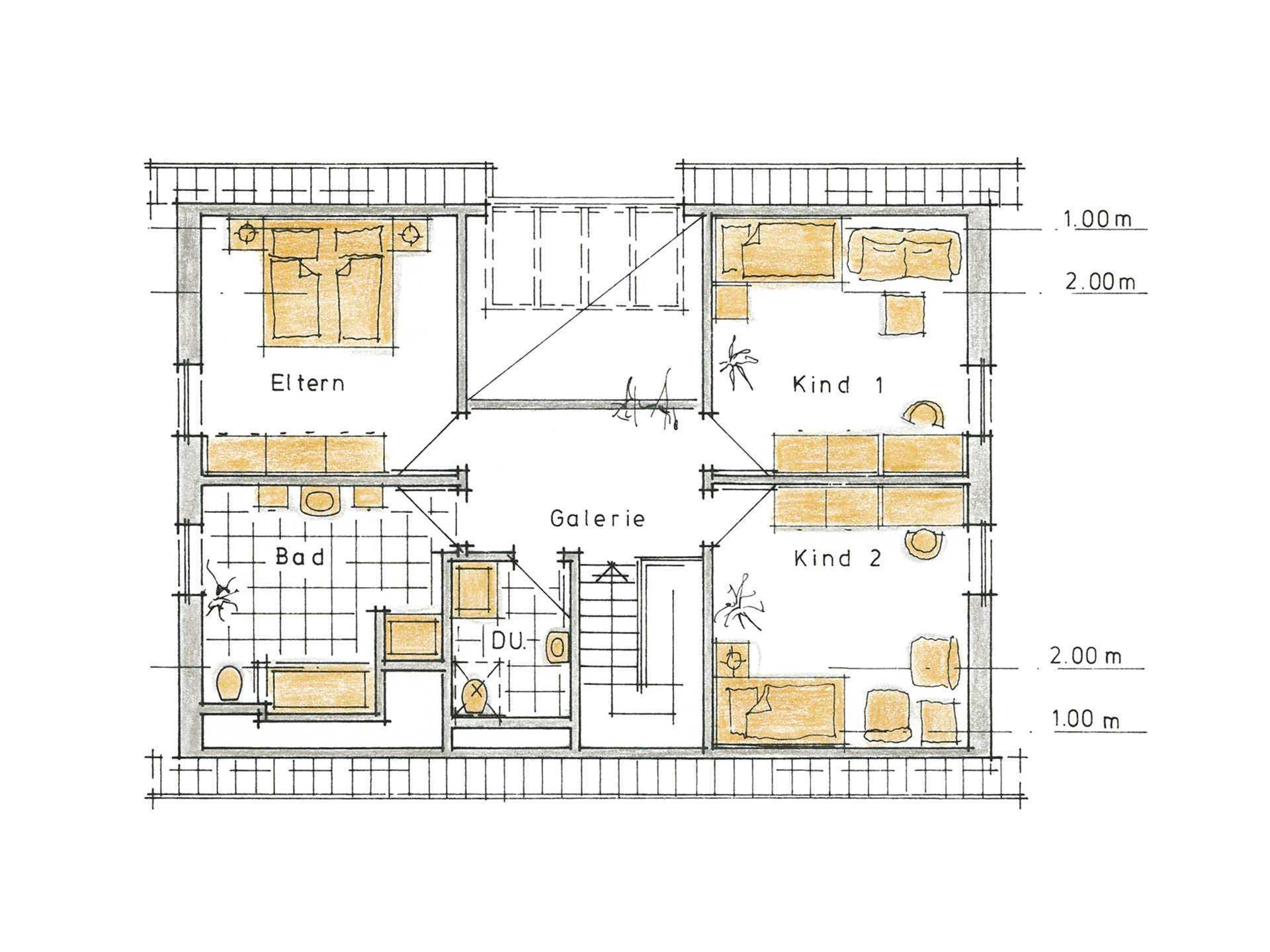 Musterhaus Svenja von Gussek Haus - Grundriss DG