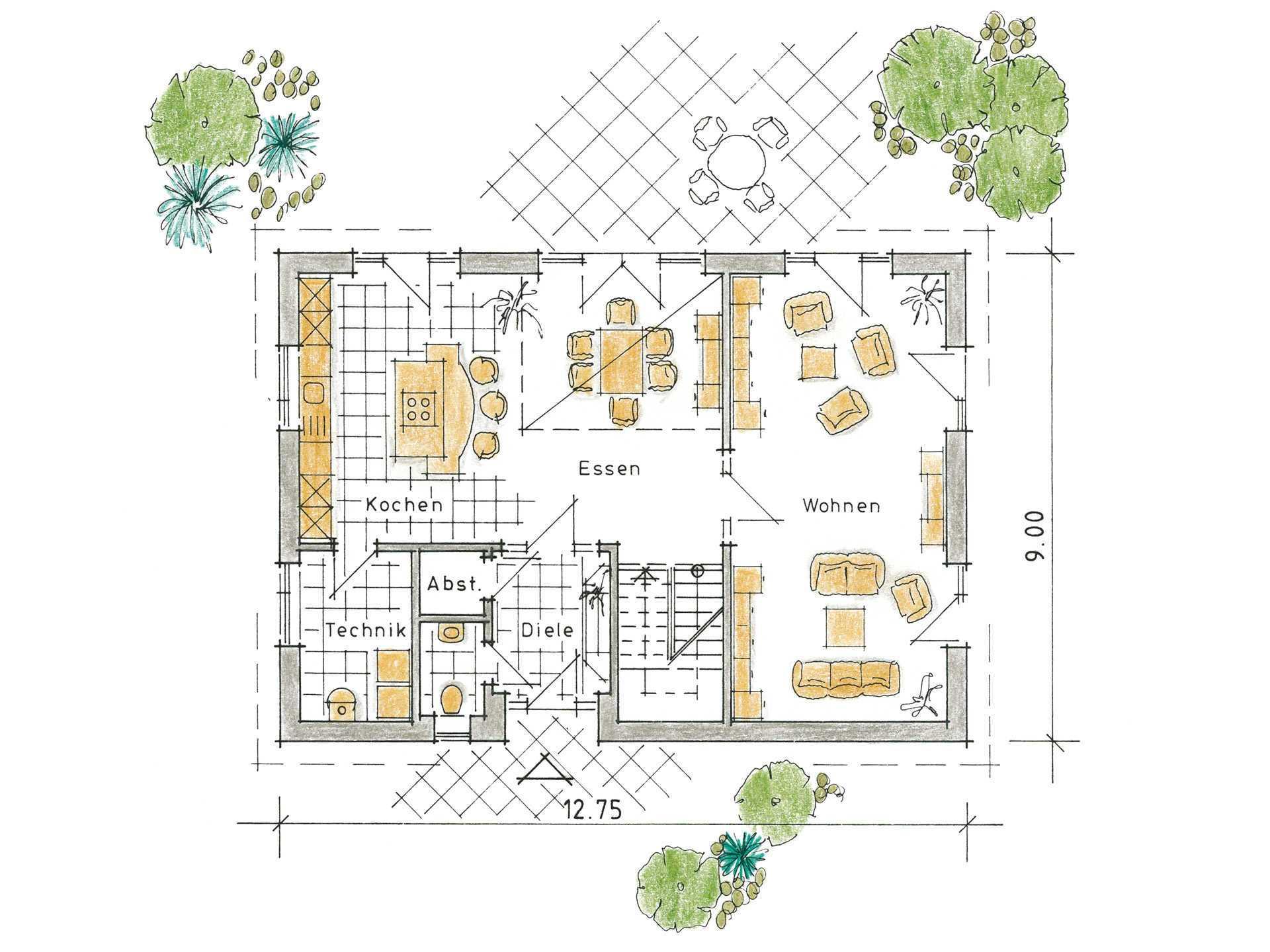 Musterhaus Svenja von Gussek Haus - Grundriss EG