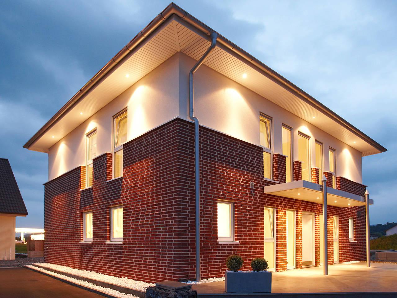 Musterhaus Kaiseraugst von Gussek Haus - beleuchtet