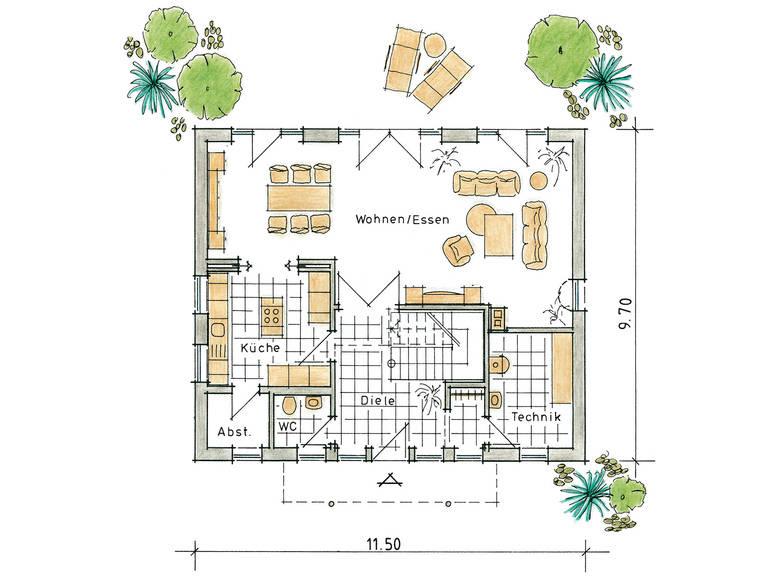 Musterhaus Kaiseraugst von Gussek Haus - Grundriss EG