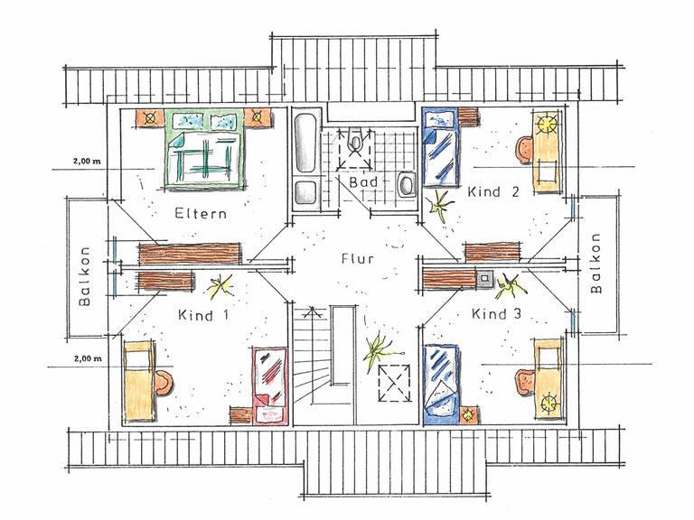 Musterhaus Sabrina von Gussek Haus - Grundriss DG