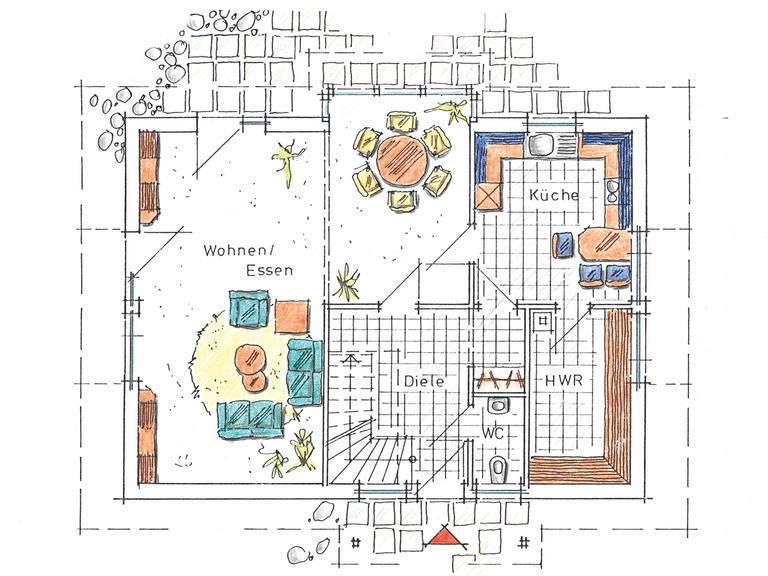 Musterhaus Sabrina von Gussek Haus - Grundriss EG