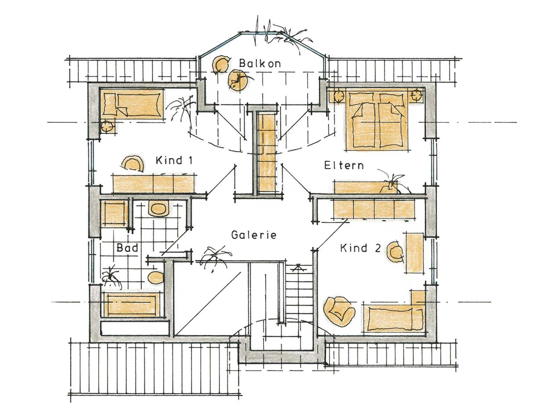 Musterhaus Carlotta von Gussek Haus - Grundriss DG