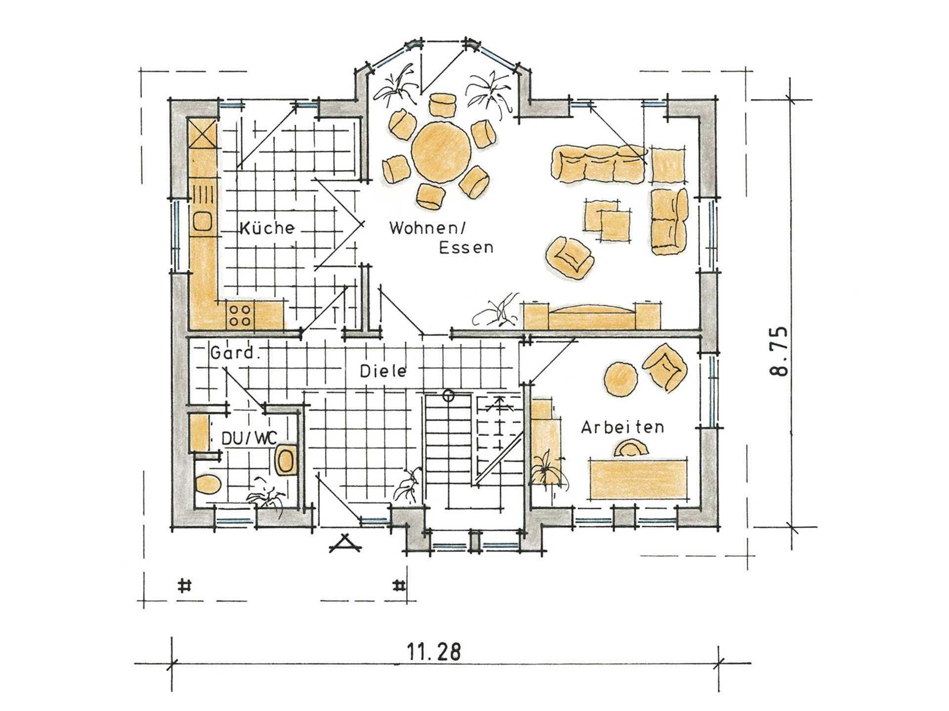 Musterhaus Carlotta von Gussek Haus - Grundriss EG