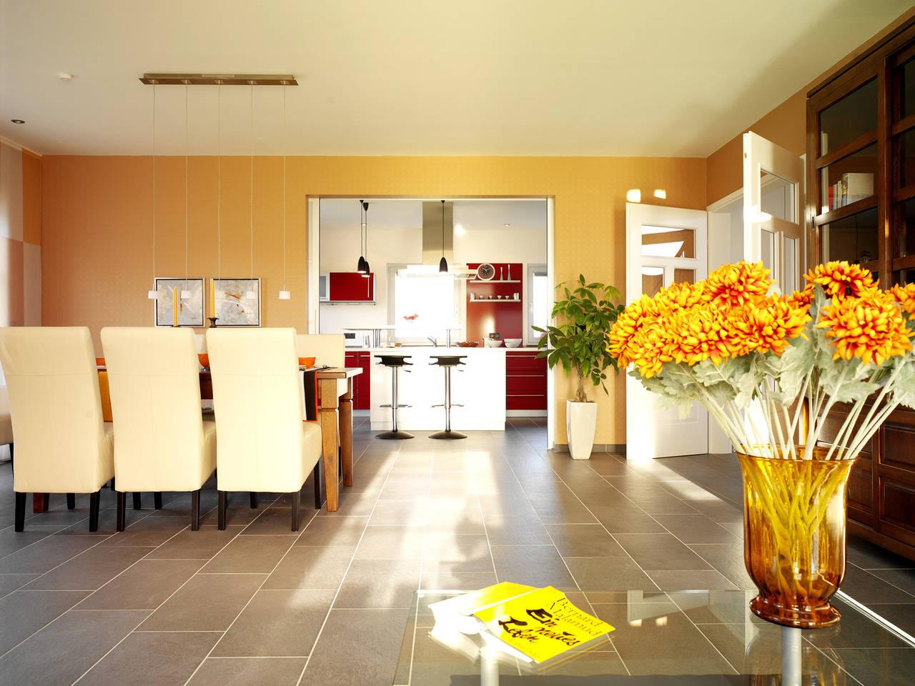 Musterhaus Carina von Gussek Haus - Wohnzimmer