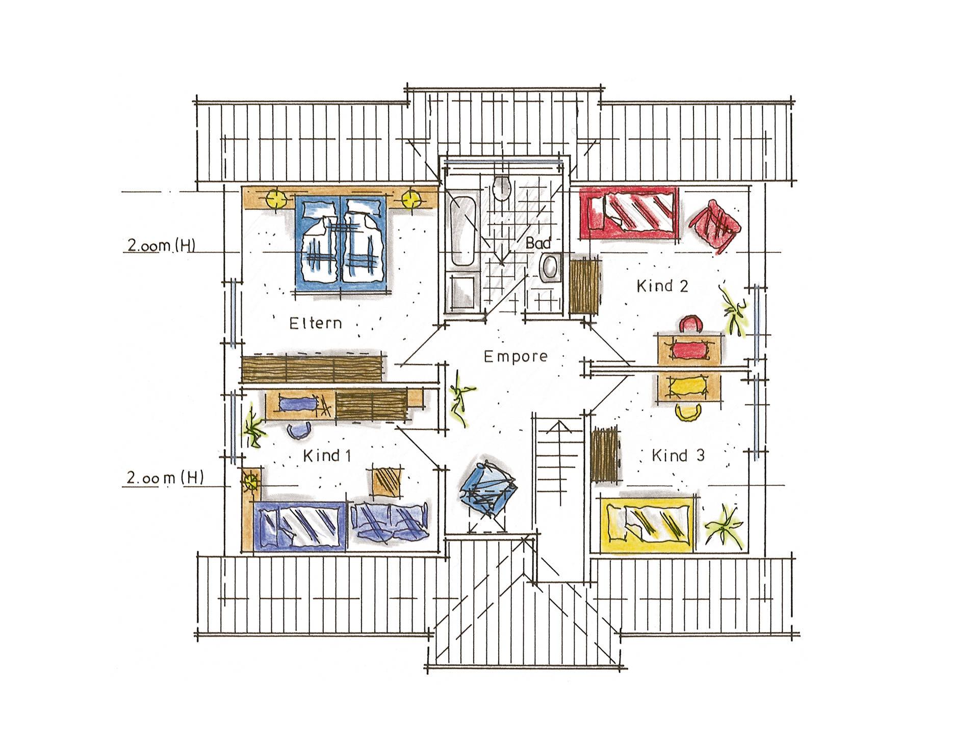 Musterhaus Annalena von Gussek Haus - Grundriss DG