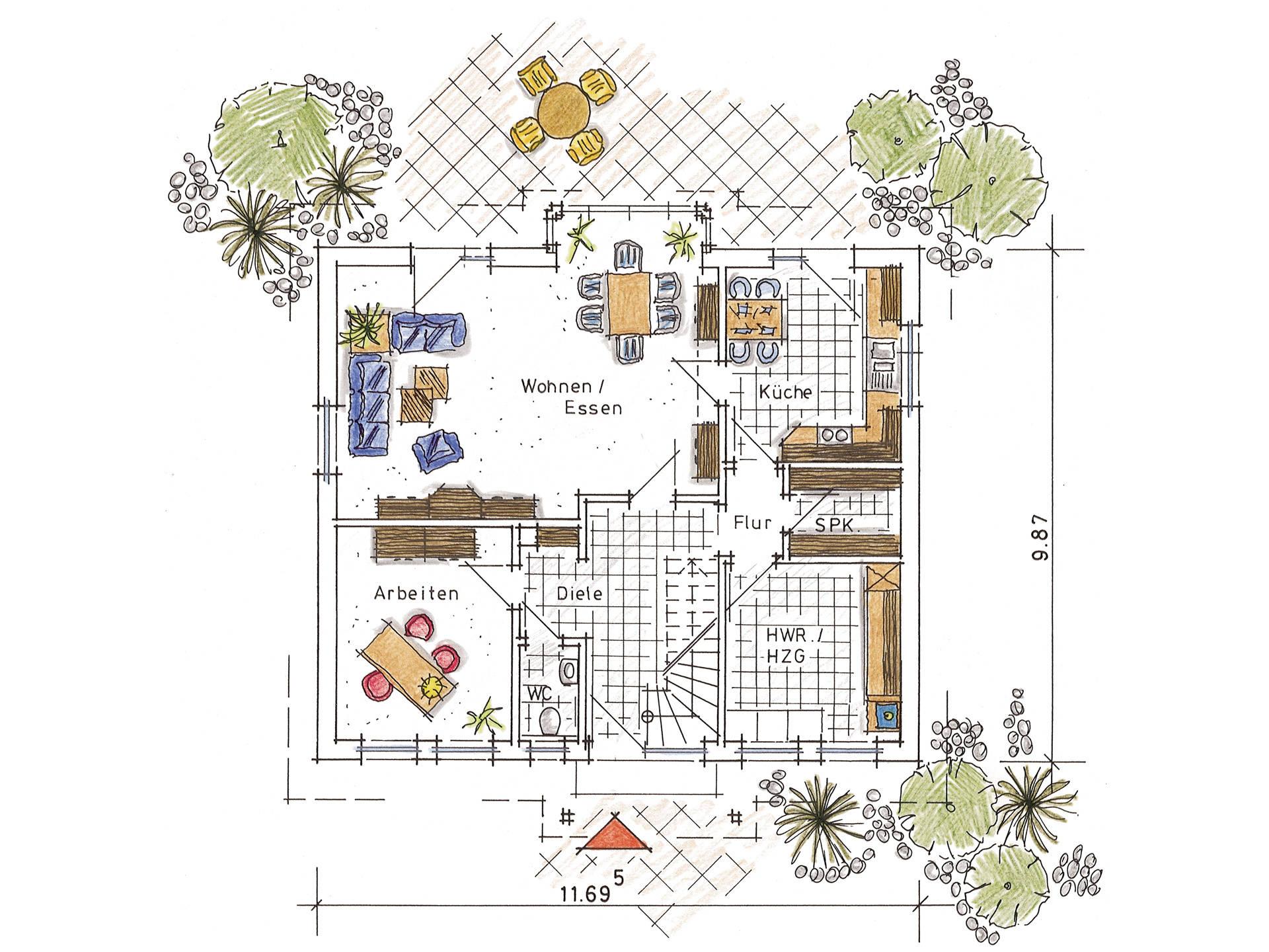 Musterhaus Annalena von Gussek Haus - Grundriss EG