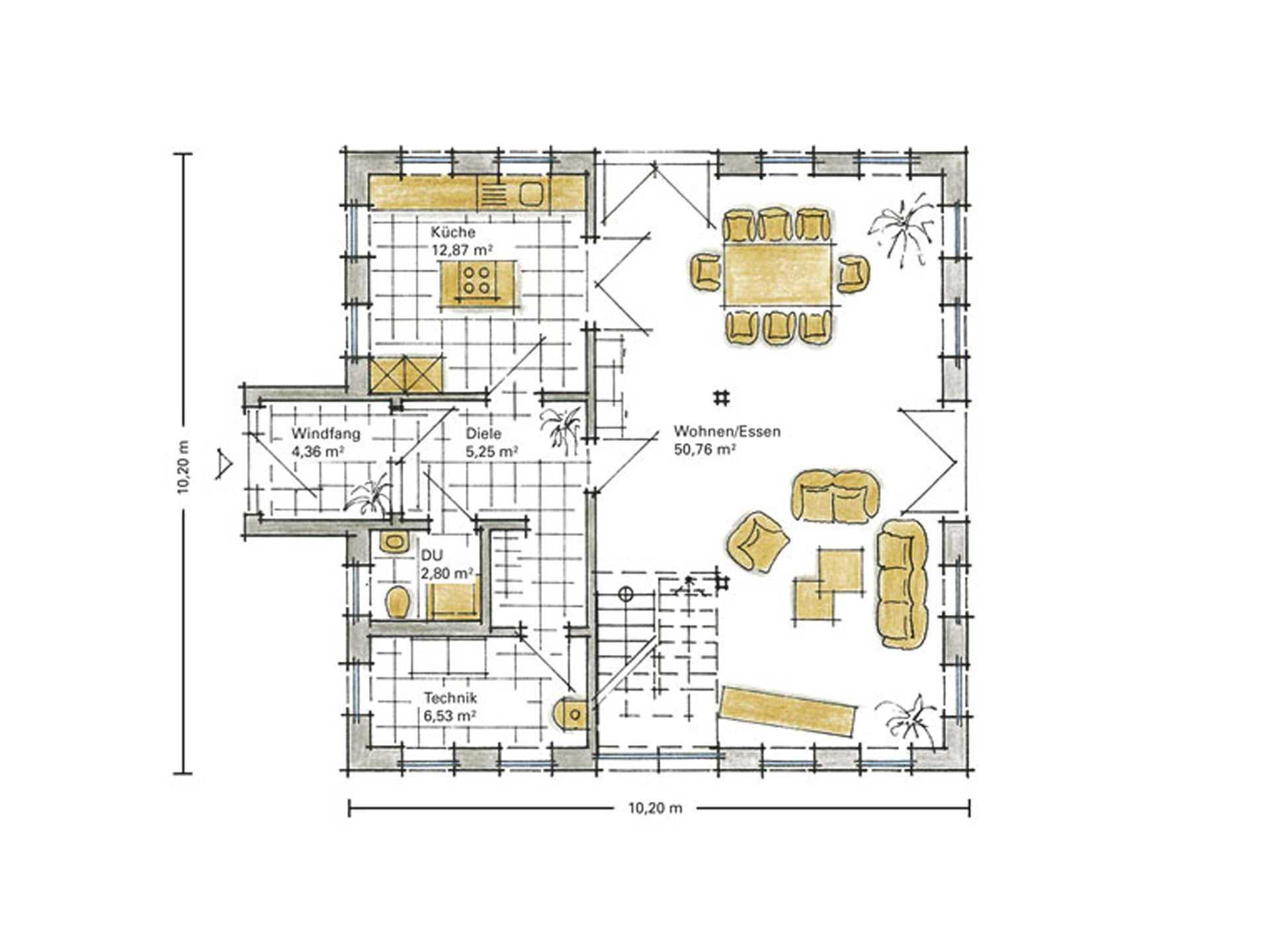 Musterhaus Aida von Gussek Haus - Grundriss EG