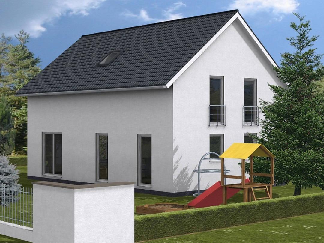 Haus Benita von W. Leberer Massivbau - 3D Darstellung