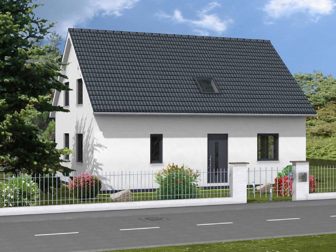 Haus Bonnie von W. Leberer Massivbau - Straßenansicht