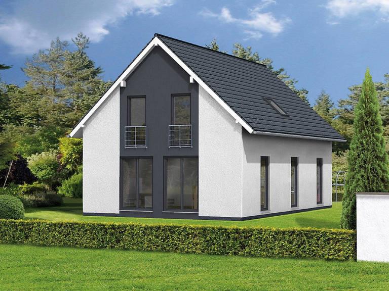 Haus Bonnie von W. Leberer Massivbau - Gartenansicht