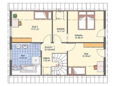 Haus Bonnie von W. Leberer Massivbau - Grundirss DG 2