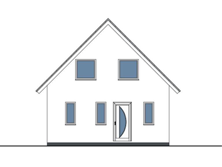 Haus Daniel von W. Leberer Massivbau - Zeichnung Front