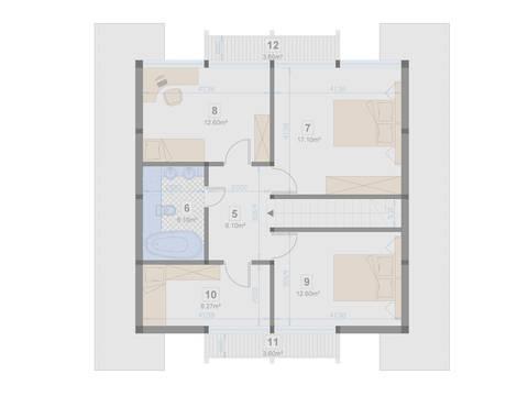 Familienhaus 130 von Designo Haus - Grundriss DG