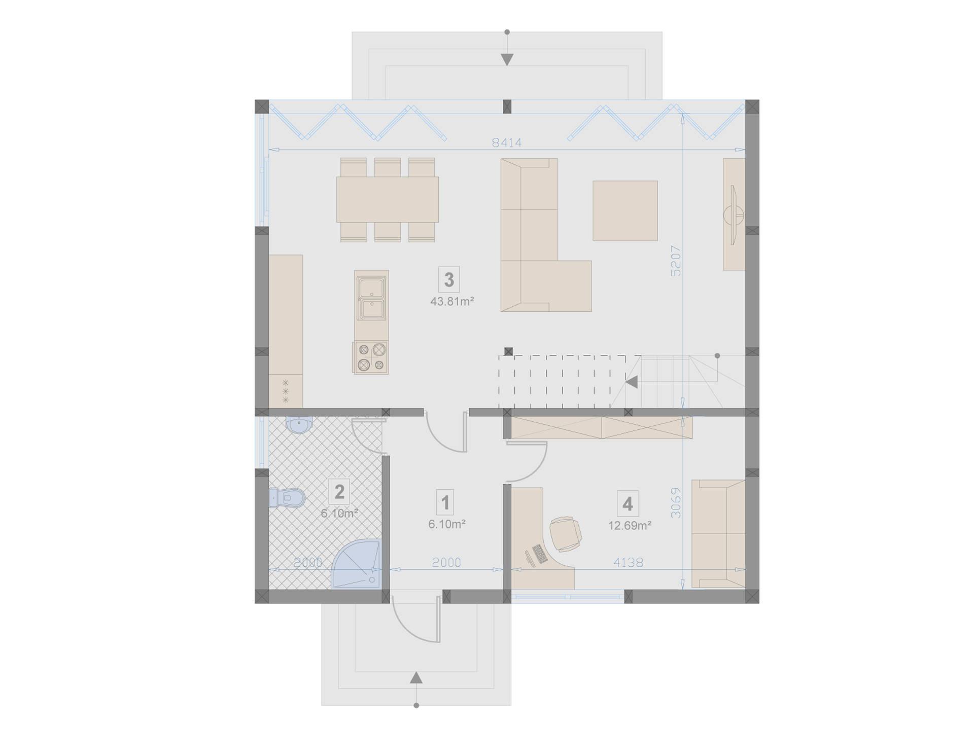 Familienhaus 130 von Designo Haus - Grundriss EG