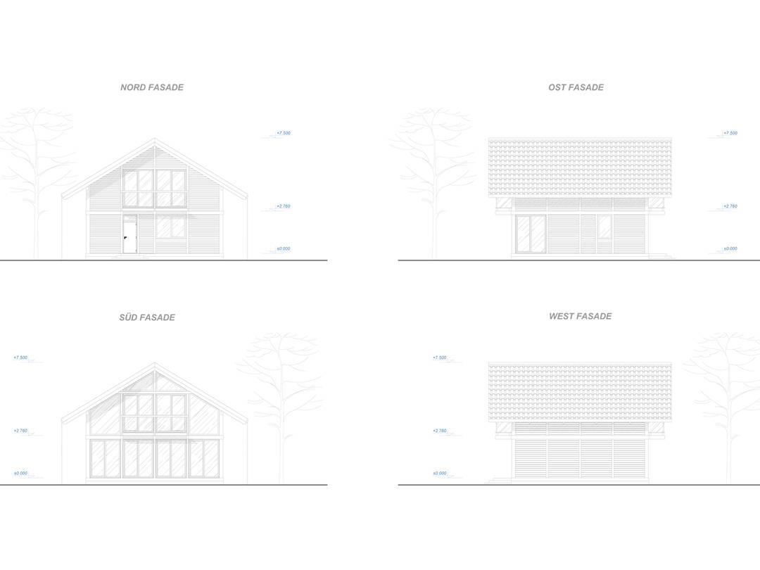 Familienhaus 130 von Designo Haus - Fassadenansicht