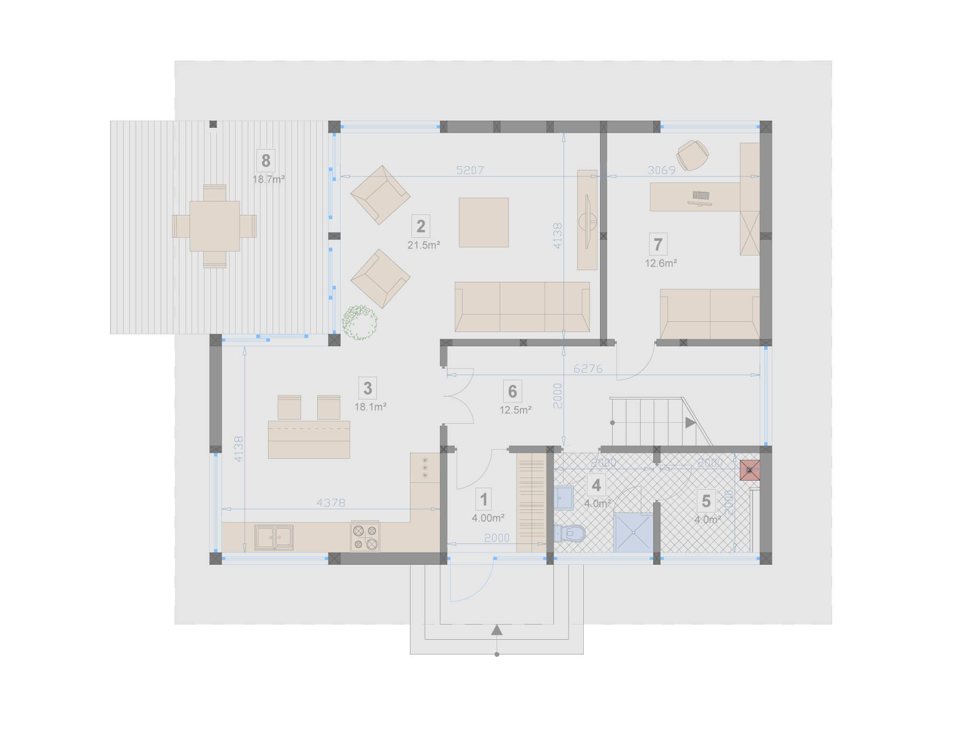 Familienhaus 140 von Designo Haus - Grundriss EG
