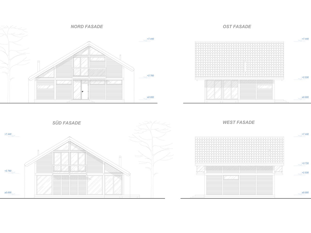 Familienhaus 140 von Designo Haus - Fassadenansichten