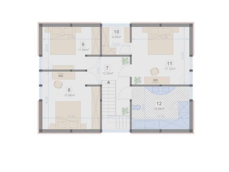 Familienhaus 150 von Designo Haus - Grundriss DG