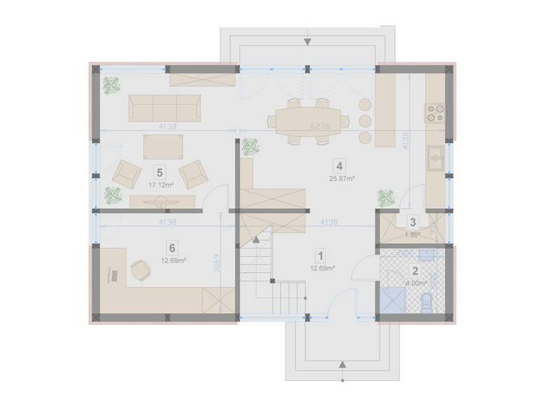 Familienhaus 150 von Designo Haus - Grundriss EG