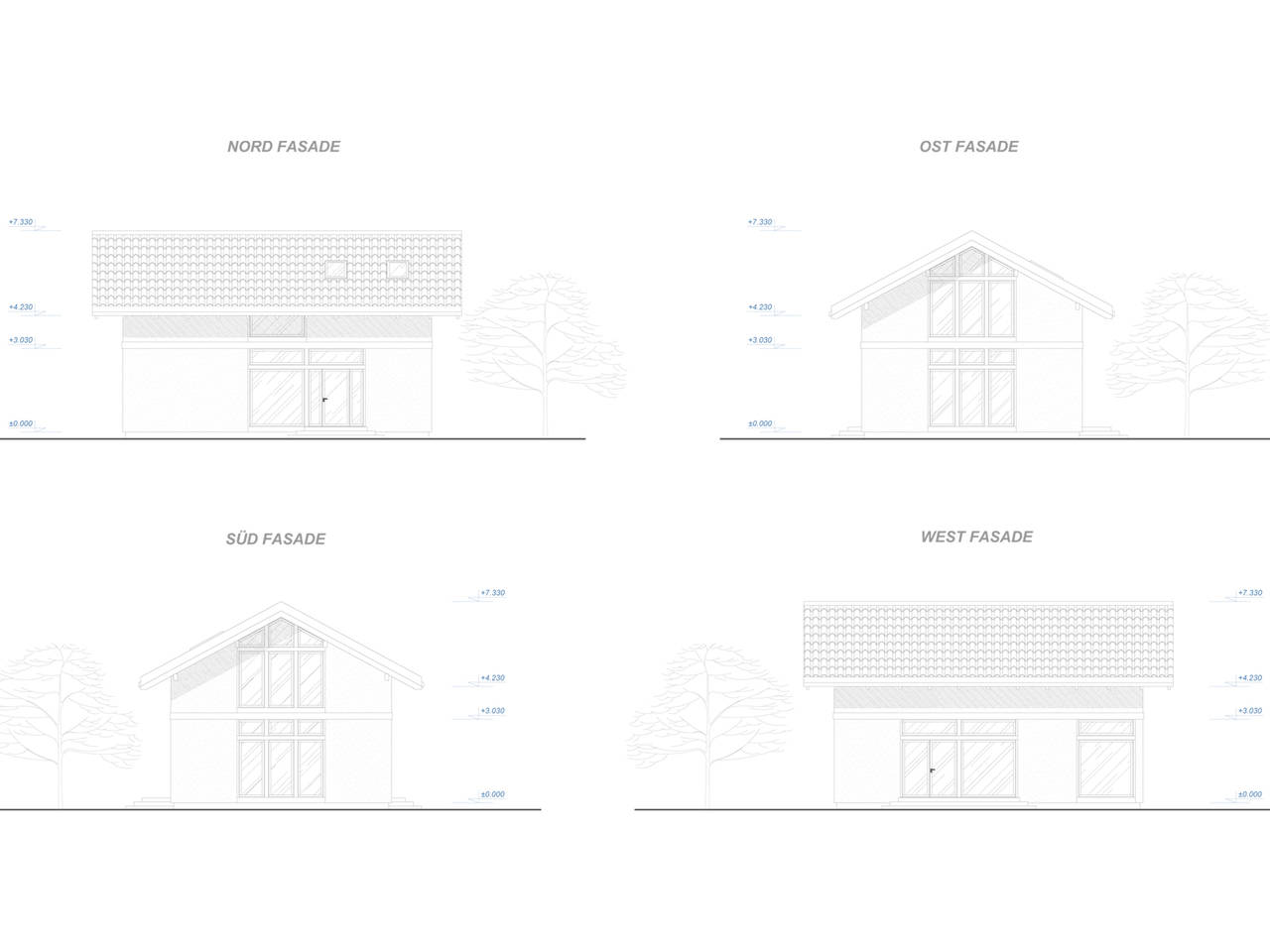 Familienhaus 150 von Designo Haus - Fassadenansichten