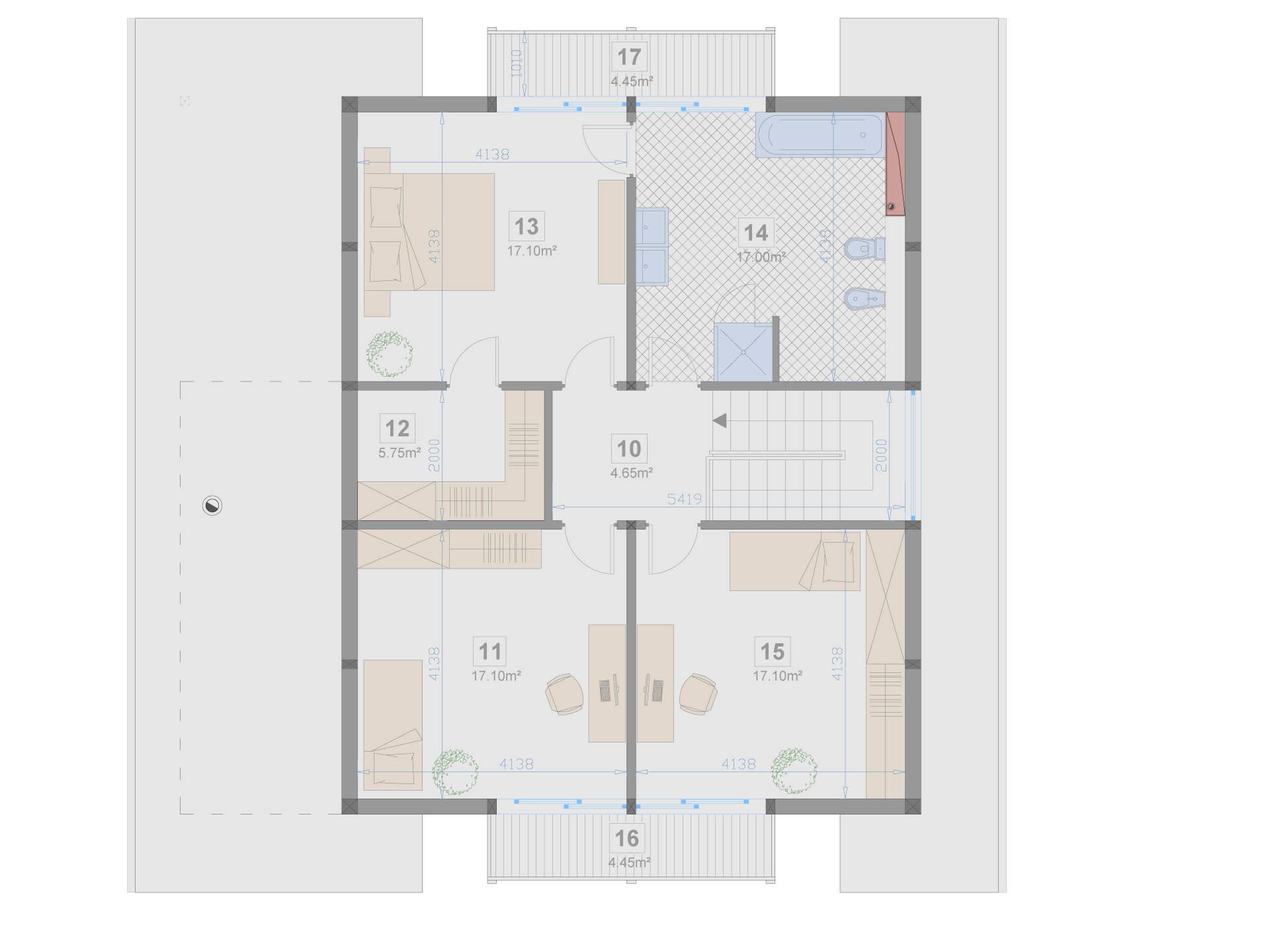 Familienhaus 180 von Designo Haus - Grundriss DG