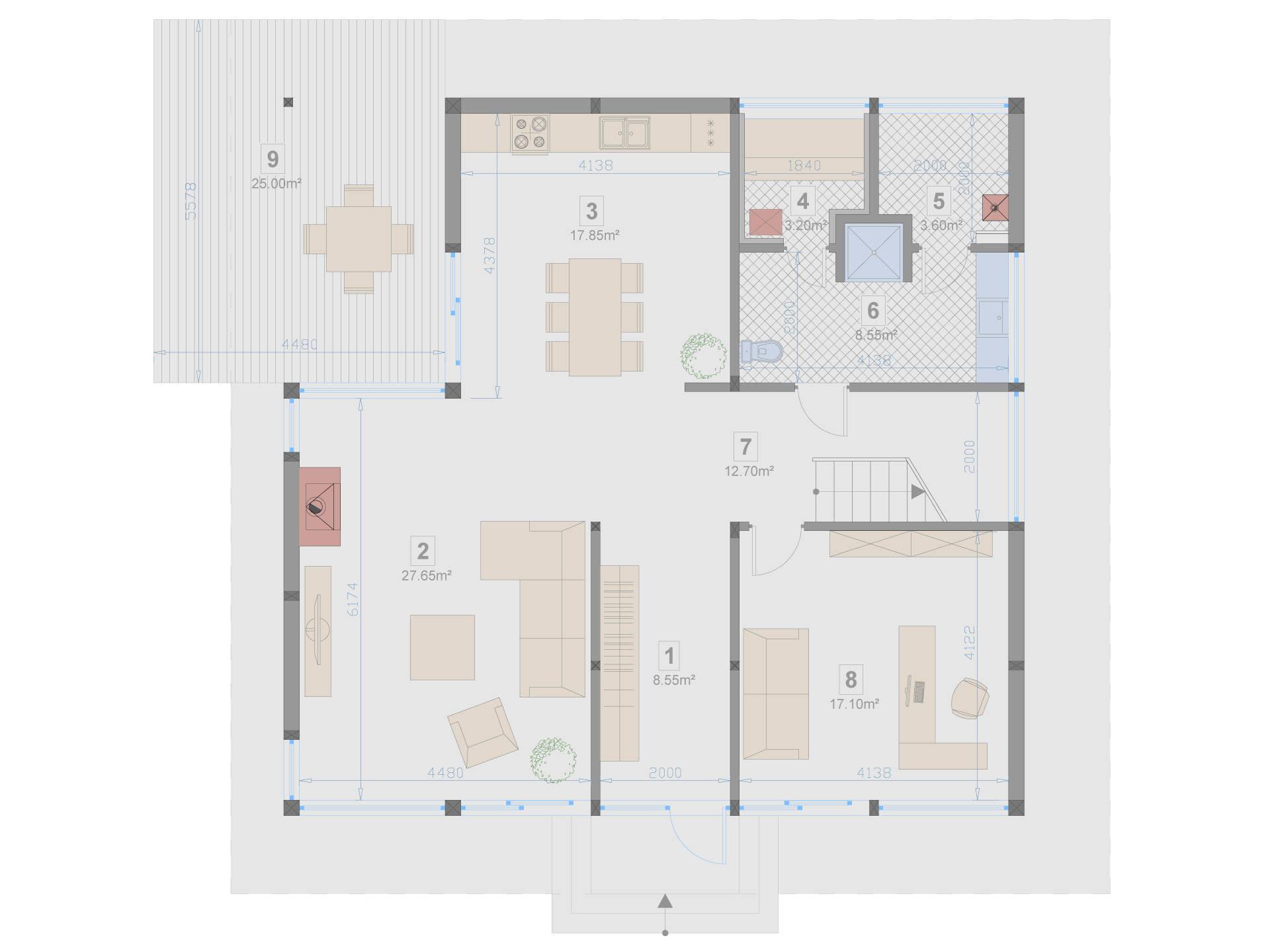 Familienhaus 180 von Designo Haus - Grundriss EG