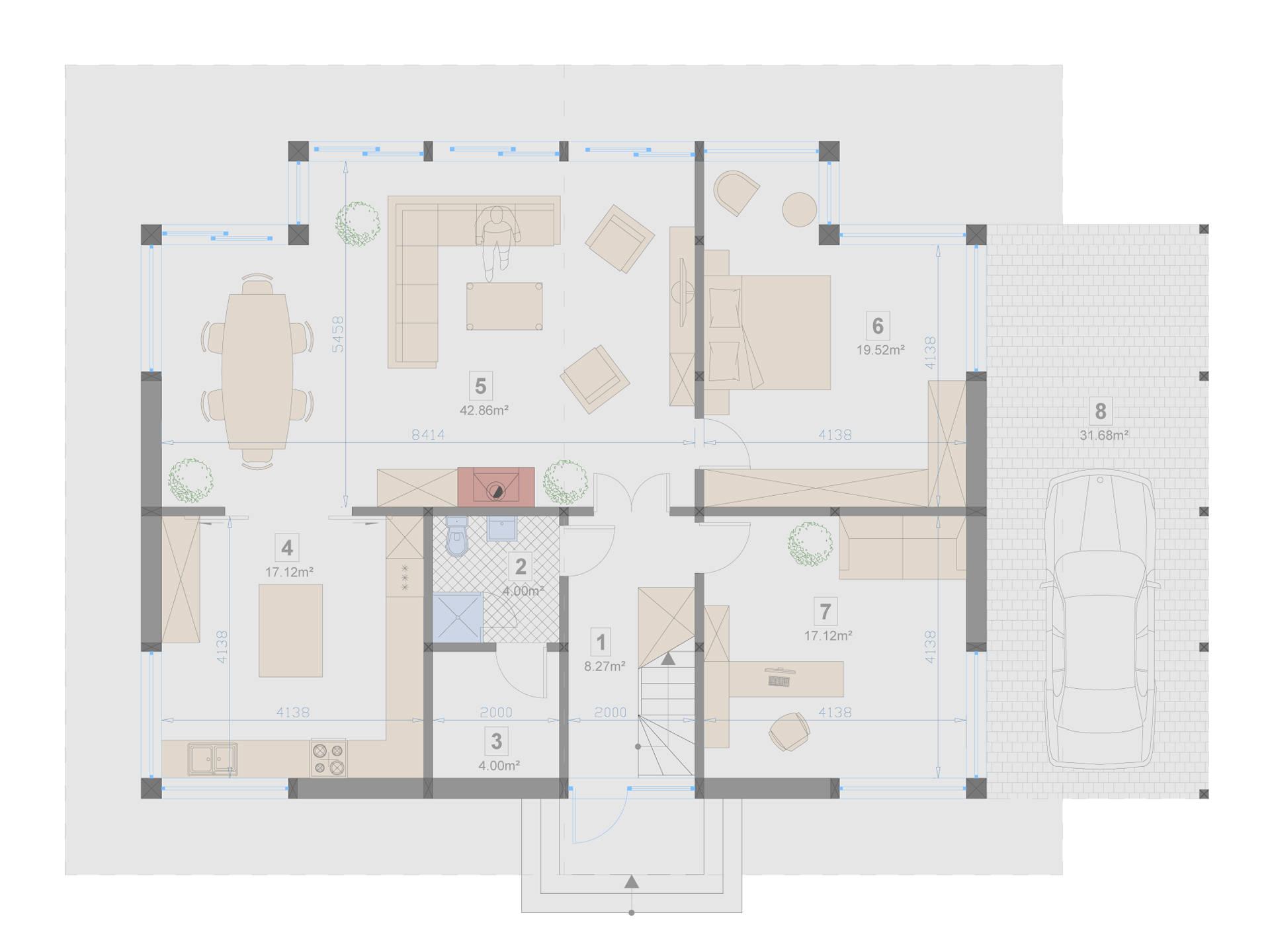 Familienhaus 220 von Designo Haus - Grundriss EG