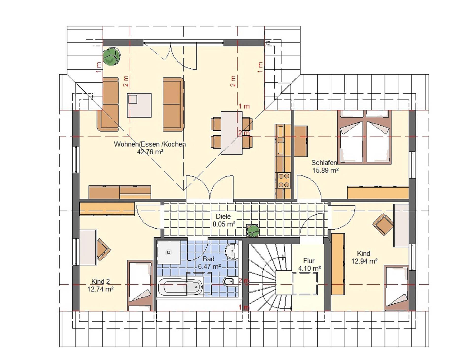 Haus Emilia von W. Leberer Massivbau Grundriss DG 2