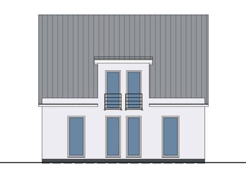 Zeichnung Rückseite Haus Felix von W. Leberer Massivbau