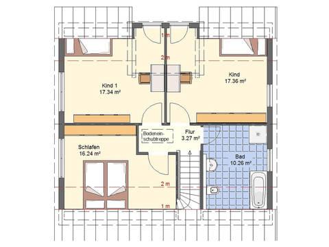 Haus Felix Grundriss DG von W. Leberer Massivbau