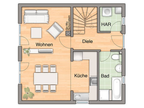 Haus Aspekt 90 - Bauprojektierung Meyer - Grundriss EG