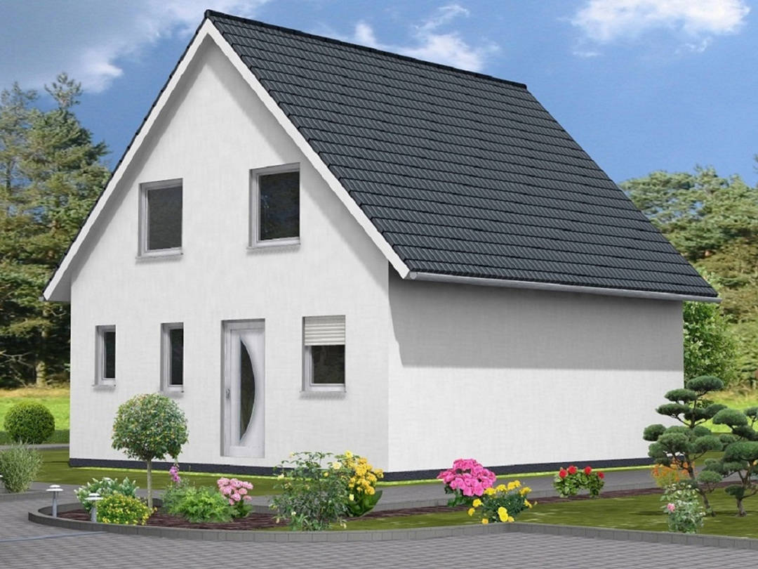 Haus Lea von W. Leberer Massivbau Ansicht Front weiss