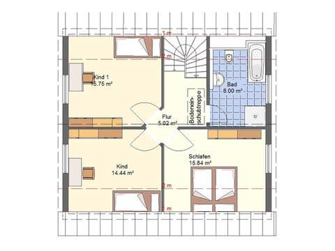 Haus Lea von W. Leberer Massivbau Grundriss DG