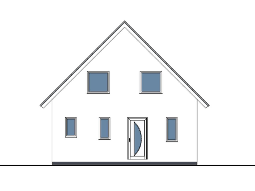 Zeichnung Front Haus Lea von W. Leberer Massivbau