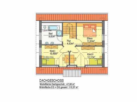Haus Junge Baugeneration - ideal-heim-bau Grundriss DG