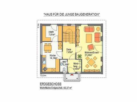 Haus Junge Baugeneration - ideal-heim-bau Grundriss EG