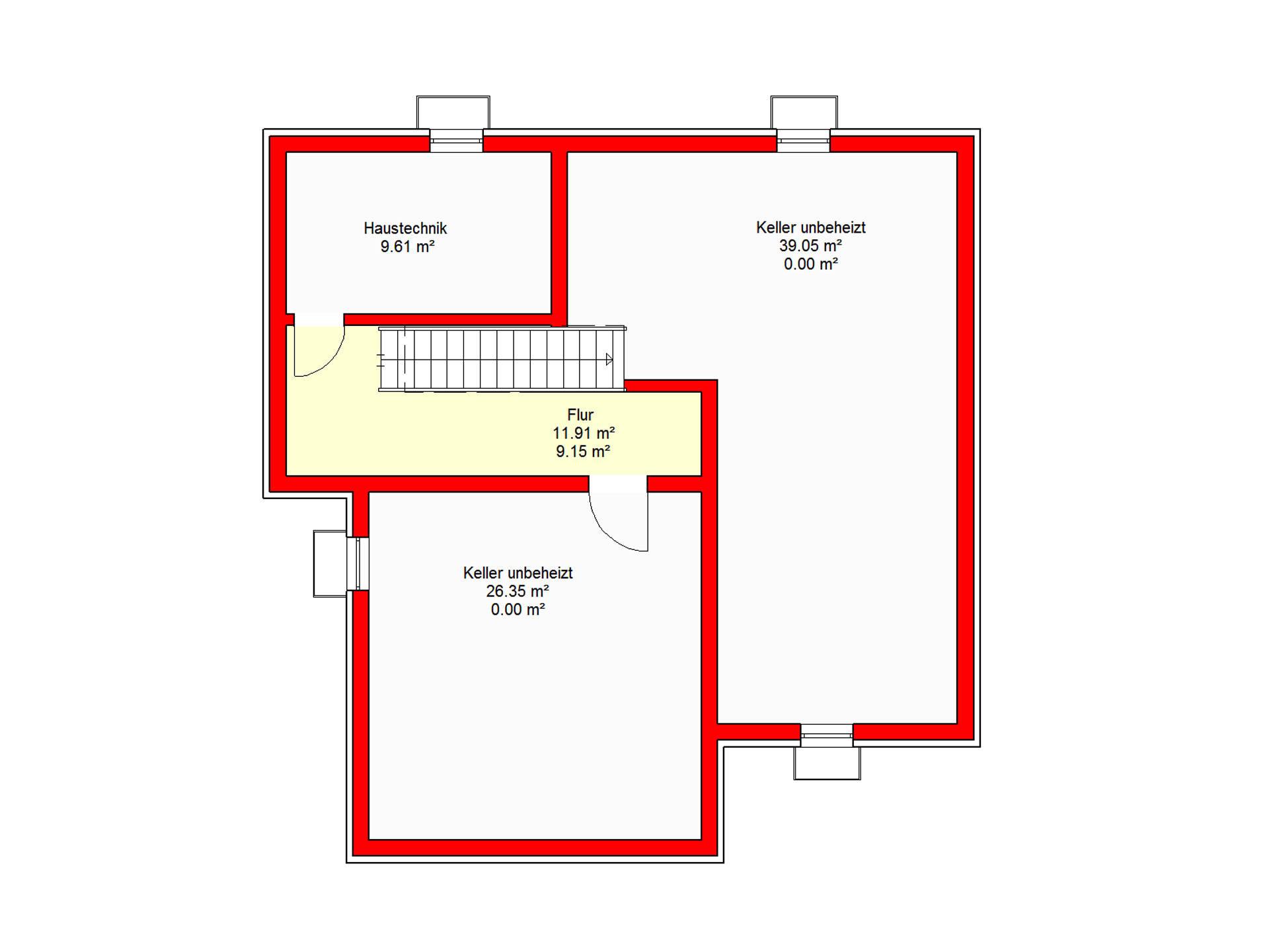 Haus Berlin 164 B.I.F.-Konzpte Grundriss Keller