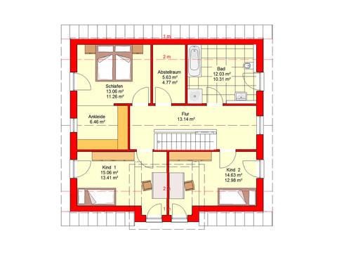 Haus Bingen 151 SD B.I.F.-Konzepte Grundriss Dachgeschoss