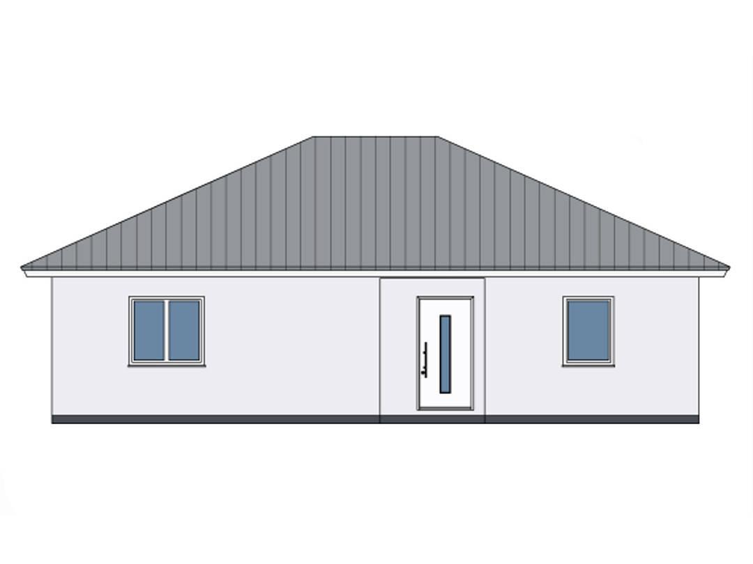 Zeichnung Front Haus Lene von W. Leberer Massivbau