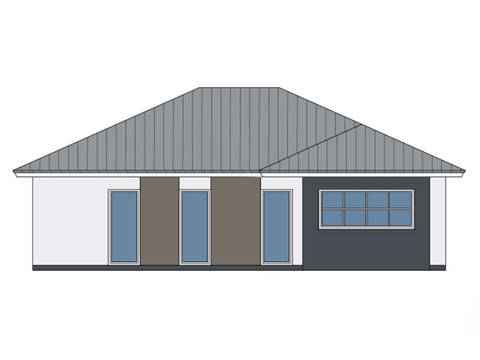 Zeichnung Seite Haus Lene von W. Leberer Massivbau