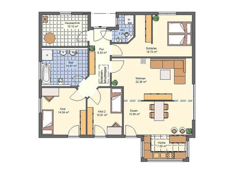 Haus Lene von W. Leberer Massivbau Grundriss