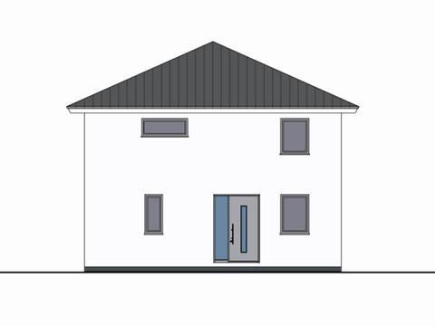 Zeichnung Front Haus Leon von W. Leberer Massivbau