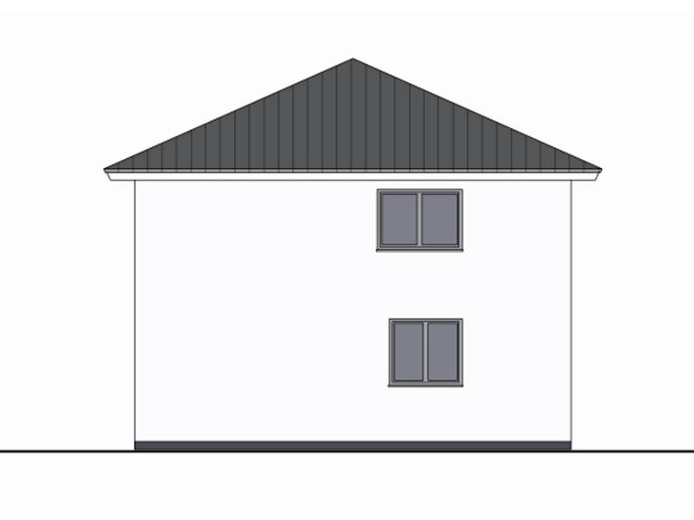 Zeichnung Seite Haus Leon von W. Leberer Massivbau