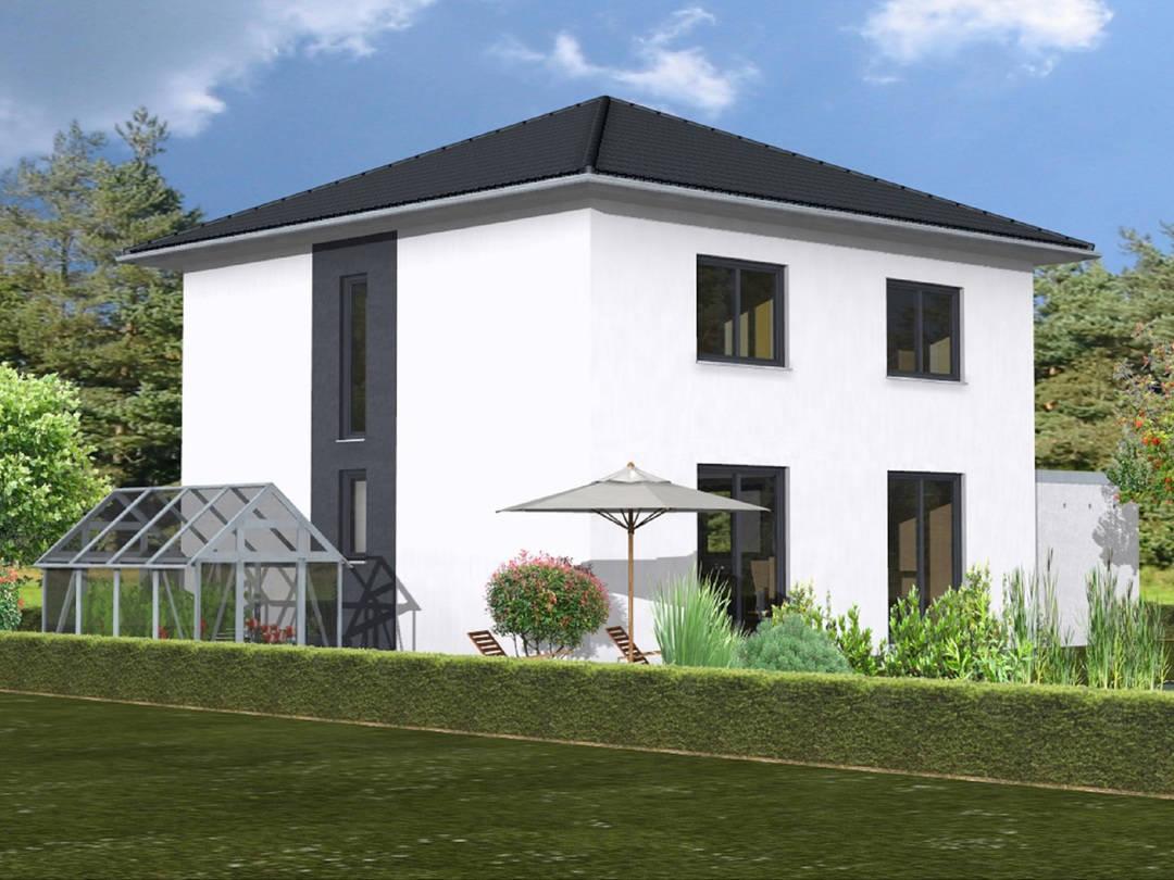 Haus Leon von W. Leberer Massivbau Ansicht Garten