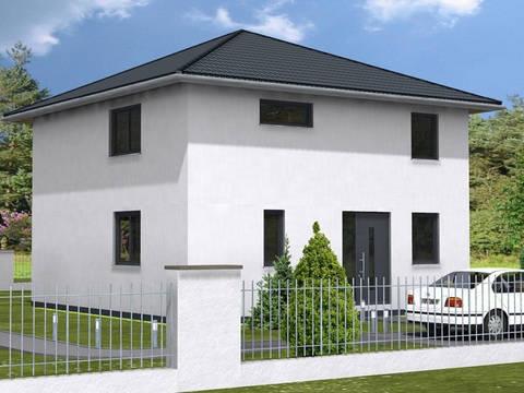Haus Leon von W. Leberer Massivbau Ansicht Weiss