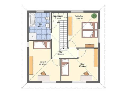 Haus Leon von W. Leberer Massivbau Grundriss DG Variante 1